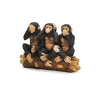 Unbekannt Sunny Toys 12703 Poly Affen 'Indische Weisheit' circa 14 cm