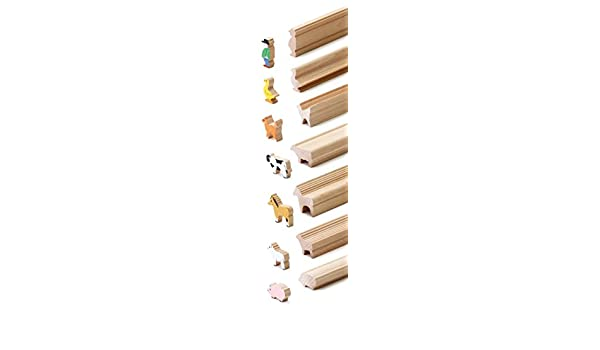 Erzi 45/x 11/x 60/cm Wald Tiere Craft Zierleiste Holz Spielzeug
