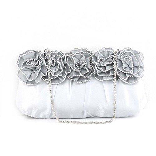 Le Donne Della Rosa Del Fiore Del Diamante Del Sacchetto Del Sacchetto Signore Mano Silver
