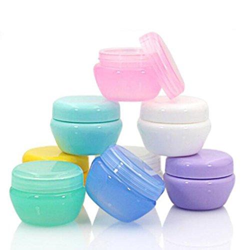 12 PCS 10g Doux et Durable En Plastique Contenants Cosmétiques avec Doublure Intérieure pour Gommages Huiles Salves Crèmes Lotions Maquillage Cosmétiques Nail Accessoires Beauté Aids (Blue)