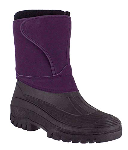 Unisex Work Mucker Boots - Long Hook & Loop Strap Comfortable Winter Thermal Footwear Anti Slip