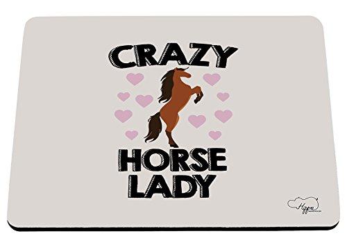 hippowarehouse Crazy Horse Lady bedruckt Mauspad Zubehör Schwarz Gummi Boden 240mm x 190mm x 60mm, Purple and Orange, Einheitsgröße (Farm-mädchen-kleidung)