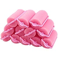 12pcs Popular Soft Sponge Hair Curler Rollers Cushion Random Colour