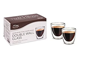 Aqualogis Double Wall Thermo insulated Glass - Espresso 80 ml, Set of 2