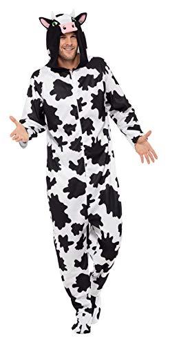 Smiffys Costume de vache, tout-en-un avec capuche