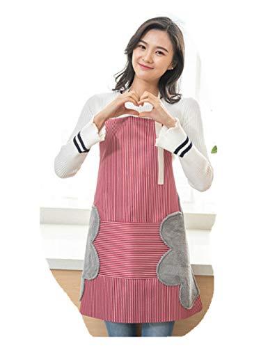 Schürze, verstellbar, Stoffschürze, Baumwolle, kochend, kochend, ölbeständiges Kleid, 70 * 70cm - Baumwolle-verstellbare Schürze
