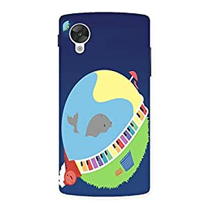 NEO WORLD Earth Drawing Back Case Cover for Google Nexsus 5