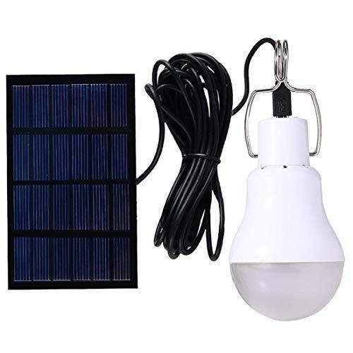 Solarbetriebene Lampe Led Birne leuchtet mit Lichtsteuerung Auto Power an / aus für Camp Tent Night...
