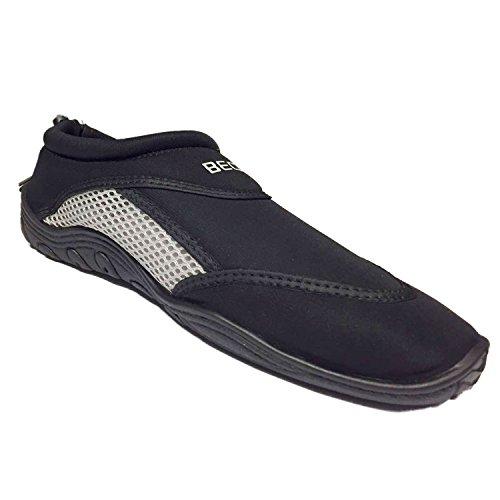 BECO Surf und Badeschuhe Schuhe, Silber/Schwarz, 43