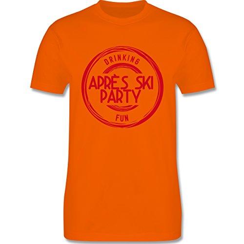 Après Ski - Après Ski Stempel Badge - Herren Premium T-Shirt Orange