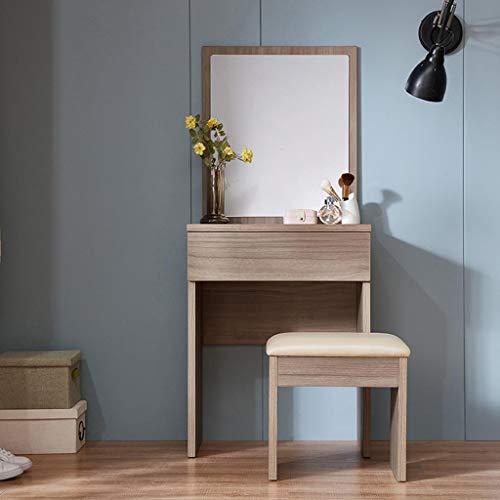 Frisierkommode, Eitelkeit Make-Up-Tisch, Mit Spiegel Kleiner Versammlung Nussbaum Farbe Schreibtisch -