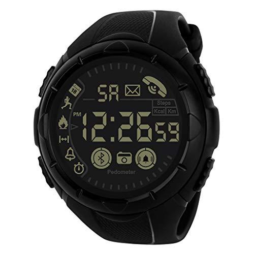 b5759d037cf3 Relojes de Pulsera para Hombres Reloj Inteligente 24 Horas Monitoreo en  Todo Tiempo 33 Meses Tiempo en Espera Honestyi