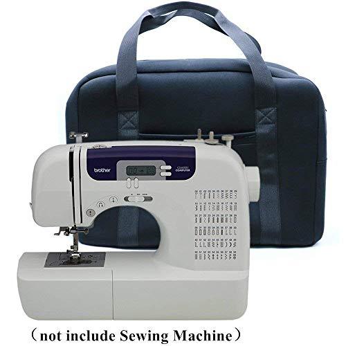 Case Wonder, valigetta portatile nera in neoprene morbido, borsa portatile in tessuto protettivo per macchine da cucire Brother LS14/AE1700/AE2500/Homgeek 12punti/Singer modello 1507/4411