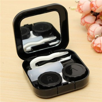 Generic Cute Travel Contact Lens Case Eye Care Kit Holder Mirror Box