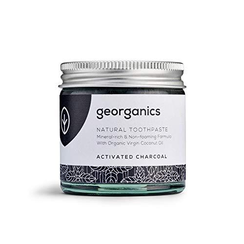 Georganics natürlich biologische Kokosölzahnpasta- Aktivkohle 60 ml/Remineralizing Natural Organic Coconut Oil Toothpaste - Active Whitening Charcoal 60ml