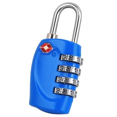 TRIXES 4-stelliges TSA-Zahlenschloss Vorhängeschloss für Gepäck, Tasche, Koffer - Hellblaue