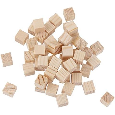 50pcs Cubos de Madera Juguete Educativo Natura Adorno Para Niños 10x10x10mm