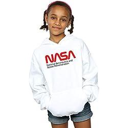 NASA Niñas Aeronautics and Space Capucha Blanco 12-13 Years