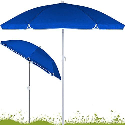 Deuba Sonnenschirm höhenverstellbar 180cm - 200cm • Neigefunktion • 2 teilig transportierbar...