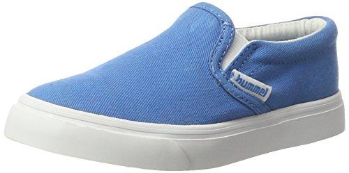 Hummel Slip-On Jr, Mocassins Mixte Enfant Bleu (Cendre Blue)