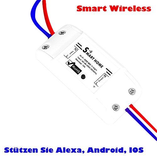 r Schalter Wifi Switch Drahtlose Steuerung Automatisierung Intelligente Steckdose Intelligente Strom Schalter DIY Smart Home Automation Modul Arbeit mit Unterstützung iOS Android (Wifi Ausschalten)