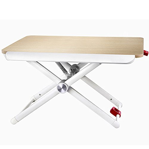 Klapptisch ZZHF Stand-up Mobile Schreibtisch Lift Computer Hebegestell Sit Station Alternative Tisch Tisch Weiß 60 * 41 cm Schreibtische (Tisch Mdf-quadratischer)