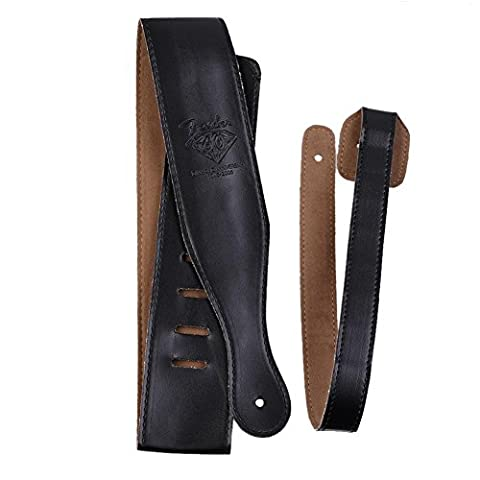 Candora Leather Guitar Strap for Electric / Acoustic / Bass Guitar-Classical Bass straps- Black
