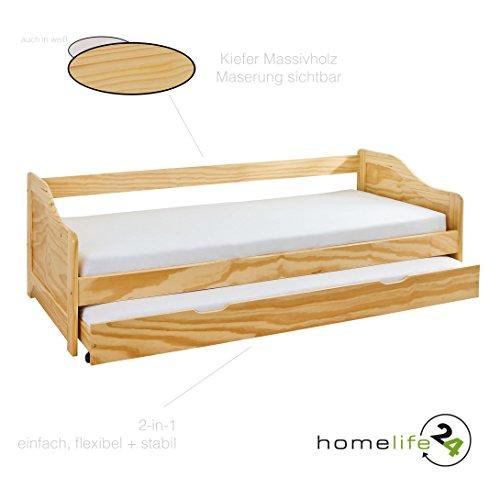 Letto 90x190 cm 90x200 culla letti letto funzione letto a castello in legno massello guest - Letto a castello in legno massello ...
