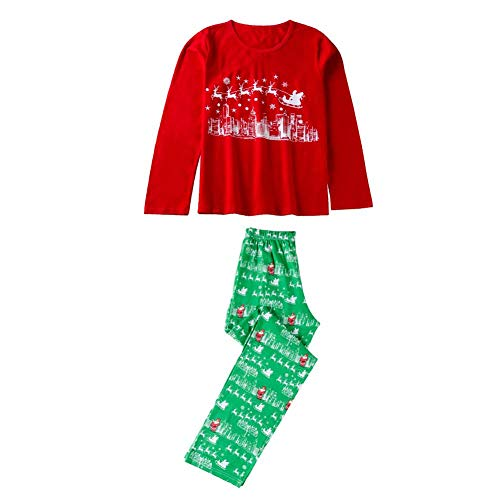 JUNERAIN Family Matching Clothes Christmas Pajama Set Women T-Shirt Pants  (Mother S) 59bb98f04