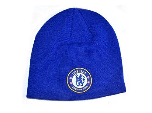 Chelsea FC königsblau Strickmütze Wintermütze Fußballverein Abzeichen (Chelsea Abzeichen Poster)