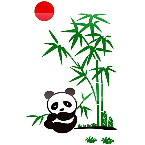 ZhenFa Panda Bambus dreidimensionalen Wand Aufkleber Familie Haus Treppe Flur 3D-Hintergrund Wand Selbstklebende dekorative DOO R Aufkleber China Wind Weihnachten Thanksgiving verkleiden ()