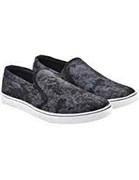 Walk Jump Printed Sneakers, Smart Canvas Shoes, Slip On Sneakers For Men