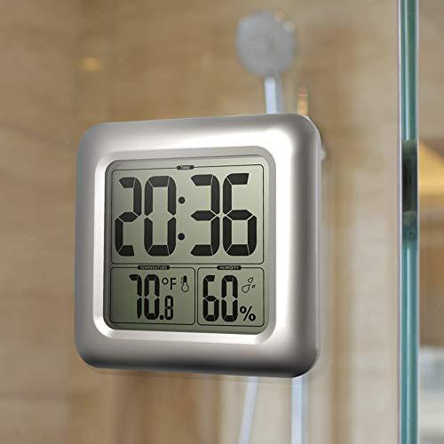 Sguan-wu LCD Digital Wanduhr Wasserdichte Temperatur Luftfeuchtigkeit Sensor Shower Timer Geschenk