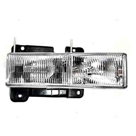 90-02 Gm Pickup Composite Headlamp Assy Rh Capa Certified 92-99 Gm Suburban 92-99 Gmc Yukon 92-94 Chevy Blazer 95-99 Chevy Tahoe 00 Classic Tahoe by Aftermarket Replacement