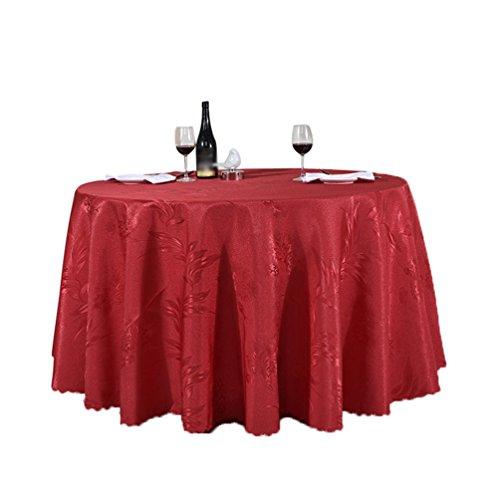 Heheja Rond Rectangulaire Carré Satin Nappe Mariage Restaurant fête Nappe Rouge 120*160cm