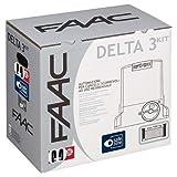 Télécommande FAAC Delta 3Kit automatisme pour portail coulissant à usage résidentiel avec poids max 900kg avec moteur 230V–Carte électronique incluse–1paire de photocellules sAFEBEAM–105630445