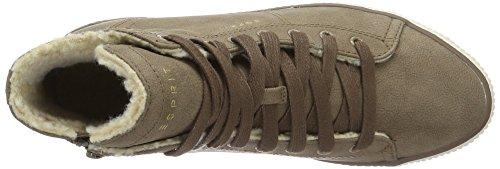 ESPRIT Alaska Bootie, Scarpe da Ginnastica Alte Donna Beige (250 khaki beige250 Khaki Beige)