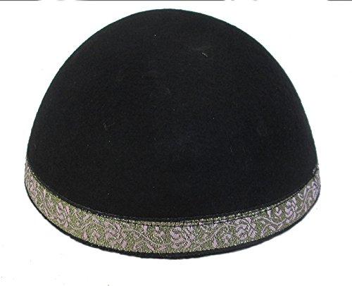 a, schwarz Jemen zweifarbiges Muster, der jüdischen Hüte Arbeit, kipphas, CUPPLES ()