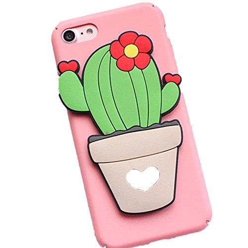 Hosaire 1x Handy Hülle Case für Apple iphone 6/6S Kreative Kaktus Muster Phone Case Apple Telefon Fall Schutzhülle Phone Harte Schale Shell Grün 2