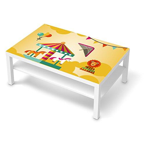 creatisto Sticker Kinder-Zimmer für IKEA Lack Tisch 118x78 cm I Möbel-Aufkleber Folie dekorieren I Wohnideen IKEA Möbel für Kinder-Zimmer Dekor I Kids Kinder Löwenstark -
