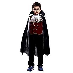 Halloween Party Cosplay Kostüm für Mädchen Jungen,Kinder 3 Stück Langarmshirts+Lange Hosen+Kap Mantel Leistungskleidung,Unisex Kleinkind Jumper Blusen Tops Neugeborenen Strampler