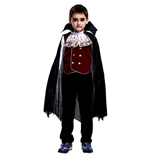 ngärmeliges Shirt + Pants + Umhang Halloween Cosplay Vampir Leistung Kostüme Kleinkind Kinder Jungen Mädchen Cosplay Vampire Performance Costumes ()