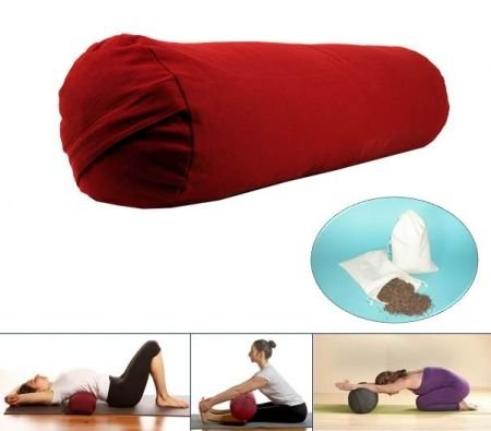 Yoga Bolster cylindrique rouge