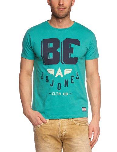 JACK & JONES Herren T-Shirt Slim Fit 12066208 MOCK TEE S/S ORG Grün (PORCELAIN GREEN)