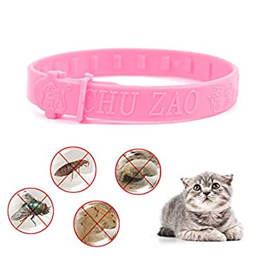 BYECHOW Adjustable Dog Cat Flea Collar,Pet Quick and Long Lasting Protection Flea Control Collar, Anti Flea, Ticks and Bugs Effectively,Stop Pest Bites Itching