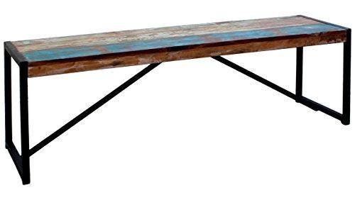 JUSTyou Kolibri Sitzbank Gartenbank Couch (HxBxL): 45x38x145 cm Bunt Schwarz