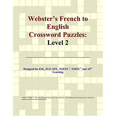 Webster's French to English Crossword Puzzles: Level 2
