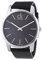Calvin Klein K2G21107 - Reloj de caballero de cuarzo, correa de piel color negro de Calvin Klein
