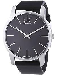 Calvin Klein K2G21107 - Reloj de caballero de cuarzo, correa de piel color negro