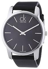 Idea Regalo - Calvin Klein Orologio da Uomo Analogico al Quarzo con Cinturino in Pelle – K2G21107